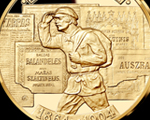 """""""Lithuanian Book Smugglers"""" is the fourth medal from the collection"""