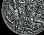 New works. Obverse medal of Rūklys & Rupeikis, the sons of King Mindaugas.